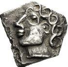 Photo numismatique  ARCHIVES VENTE 12 juin 2018 IBERIE- GAULE - CELTES SOTIATES (Région de Sos)  167- Drachme au type « à la tête bouclée du Causé », série 1.
