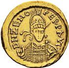 Photo numismatique  ARCHIVES VENTE 12 juin 2018 PEUPLES BARBARES OSTROGOTHS Epoque de THEODORIC Ier le Grand (493-526) 199- Solidus au nom de ZÉNON (474-491), Bologne.