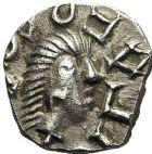 Photo numismatique  ARCHIVES VENTE 12 juin 2018 PEUPLES BARBARES MEROVINGIENS CITES POITOU-MELLE 208- Denier, vers 700.