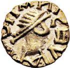 Photo numismatique  ARCHIVES VENTE 12 juin 2018 PEUPLES BARBARES MEROVINGIENS CITES GAULE du NORD 209- Triens, vers 650/660.