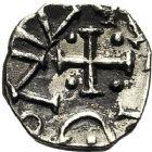 Photo numismatique  ARCHIVES VENTE 12 juin 2018 PEUPLES BARBARES MEROVINGIENS CITES LIMOUSIN, CORREZE 211- Denier du VIIIe siècle.