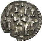 Photo numismatique  ARCHIVES VENTE 12 juin 2018 CAROLINGIENS CHARLEMAGNE, roi (768-800) empereur (800-814) Premier type (768 - avant 793/794) 212- Denier, Le Mans, avant 793/794.