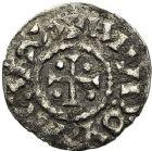 Photo numismatique  VENTE 12 juin 2018 CAROLINGIENS LOUIS LE PIEUX, empereur (janvier 814-20 juin 840)  213- Obole trilinéaire, Toulouse, après 818.