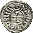 Photo numismatique  ARCHIVES VENTE 12 juin 2018 CAROLINGIENS LOUIS LE PIEUX, empereur (janvier 814-20 juin 840)  214- Denier, Toulouse, après 818.