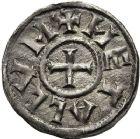 Photo numismatique  ARCHIVES VENTE 12 juin 2018 CAROLINGIENS LOUIS LE PIEUX, empereur (janvier 814-20 juin 840)  215- Denier, Melle, après 818.