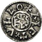 Photo numismatique  VENTE 12 juin 2018 CAROLINGIENS CHARLES LE CHAUVE, roi (840-875)  217- Denier, Melle, après 864.