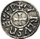 Photo numismatique  ARCHIVES VENTE 12 juin 2018 CAROLINGIENS CHARLES LE CHAUVE, roi (840-875)  217- Denier, Melle, après 864.