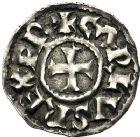 Photo numismatique  VENTE 12 juin 2018 CAROLINGIENS CHARLES LE CHAUVE, roi (840-875)  218- Denier de Melle.