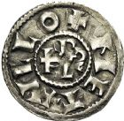 Photo numismatique  ARCHIVES VENTE 12 juin 2018 CAROLINGIENS CHARLES LE CHAUVE, roi (840-875)  219- Denier, Melle après 864.