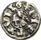 Photo numismatique  ARCHIVES VENTE 12 juin 2018 CAROLINGIENS CHARLES LE CHAUVE, roi (840-875)  220- Immobilisation du denier de Melle au nom de Charles.