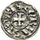 Photo numismatique  VENTE 12 juin 2018 CAROLINGIENS CHARLES LE CHAUVE, roi (840-875)  220- Immobilisation du denier de Melle au nom de Charles.