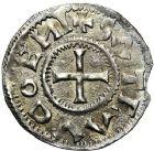 Photo numismatique  ARCHIVES VENTE 12 juin 2018 CAROLINGIENS CHARLES LE SIMPLE (28 janvier 893-destitué en 923)  222- Denier de Saint Ouen, Rouen.
