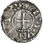 Photo numismatique  ARCHIVES VENTE 12 juin 2018 CAROLINGIENS CHARLES LE SIMPLE (28 janvier 893-destitué en 923)  223-  Denier, Verdun.
