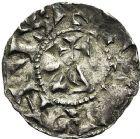 Photo numismatique  ARCHIVES VENTE 12 juin 2018 CAROLINGIENS CONRAD LE PACIFIQUE, roi de Bourgogne (937-993)  225- Denier de Lyon.