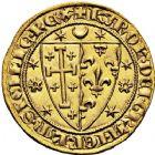Photo numismatique  VENTE 12 juin 2018 ROYALES FRANCAISES CHARLES D'ANJOU, frère de Louis IX (1227-1285)  231- Salut d'or, Naples.