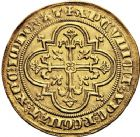 Photo numismatique  ARCHIVES VENTE 12 juin 2018 ROYALES FRANCAISES PHILIPPE IV LE BEL (5 octobre 1285-30 novembre 1314)  233- Denier d'or à la masse de la 1ère émission (10 janvier 1296).