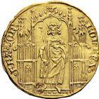 Photo numismatique  VENTE 12 juin 2018 ROYALES FRANCAISES CHARLES IV LE BEL (3 janvier 1322–1er février 1328)  235- Royal d'or (16 février 1326).