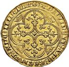 Photo numismatique  ARCHIVES VENTE 12 juin 2018 ROYALES FRANCAISES PHILIPPE VI DE VALOIS(1er avril 1328-22 août 1350)  238- Chaise d'or (17 juillet 1346).