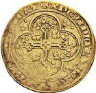 Photo numismatique  VENTE 12 juin 2018 ROYALES FRANCAISES JEAN II LE BON (22 août 1350-18 avril 1364)  241- Écu d'or à la chaise, 4ème émission, 22 septembre 1351.