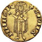 Photo numismatique  VENTE 12 juin 2018 ROYALES FRANCAISES JEAN II LE BON (22 août 1350-18 avril 1364)  243- Florin d'or du Languedoc (21 février 1360), frappé à Montpellier.