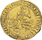 Photo numismatique  ARCHIVES VENTE 12 juin 2018 ROYALES FRANCAISES CHARLES V (8 avril 1364-16 septembre 1380)  251- Franc d'or à cheval (3 septembre 1364).