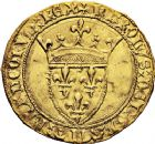 Photo numismatique  ARCHIVES VENTE 12 juin 2018 ROYALES FRANCAISES CHARLES VI (16 septembre 1380-21 octobre 1422)  253- Écu d'or à la couronne, 3ème ou 4ème émission, Tours.