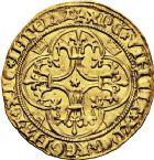 Photo numismatique  VENTE 12 juin 2018 ROYALES FRANCAISES CHARLES VI (16 septembre 1380-21 octobre 1422)  253- Écu d'or à la couronne, 3ème ou 4ème émission, Tours.