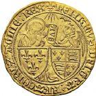 Photo numismatique  VENTE 12 juin 2018 ROYALES FRANCAISES HENRI VI, roi de France et d'Angleterre (31 octobre 1422–19 octobre 1453)  256- Salut d'or de la 2ème émission (6septembre 1423), Saint-Lô.