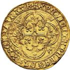 Photo numismatique  VENTE 12 juin 2018 ROYALES FRANCAISES CHARLES VII (30 octobre 1422-22 juillet 1461)  257- Royal d'or de la 1ère émission (9 octobre 1429), Bourges.