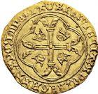 Photo numismatique  VENTE 12 juin 2018 ROYALES FRANCAISES CHARLES VII (30 octobre 1422-22 juillet 1461)  258- Écu d'or à la couronne dit écu neuf du 3ème type, 2èmeémission (12 août 1445), Montpellier.