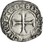 Photo numismatique  ARCHIVES VENTE 12 juin 2018 ROYALES FRANCAISES CHARLES VII (30 octobre 1422-22 juillet 1461)  261- Petit blanc au K, Chinon, 1ère émission.