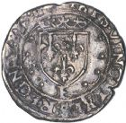 Photo numismatique  ARCHIVES VENTE 12 juin 2018 ROYALES FRANCAISES FRANCOIS I (1er janvier 1515–31 mars 1547)  270- Demi-teston du 21ème type, Tours.