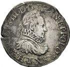 Photo numismatique  VENTE 12 juin 2018 ROYALES FRANCAISES HENRI III (30 mai 1574–2 août 1589)  274- Teston, variété du 2ème type avec fraise, Nantes, 1574.