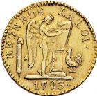 Photo numismatique  ARCHIVES VENTE 12 juin 2018 MODERNES FRANÇAISES LA CONVENTION (22 septembre 1792 - 26 octobre 1795)  340- Louis d'or de 24livres, Lille 1793, an II.