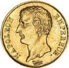 Photo numismatique  ARCHIVES VENTE 12 juin 2018 MODERNES FRANÇAISES NAPOLEON Ier, empereur (18 mai 1804- 6 avril 1814)  344- 20 francs or, type intermédiaire, Paris an 12.
