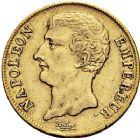 Photo numismatique  ARCHIVES VENTE 12 juin 2018 MODERNES FRANÇAISES NAPOLEON Ier, empereur (18 mai 1804- 6 avril 1814)  345- 20 francs or, Paris an 12.