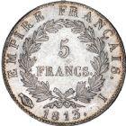Photo numismatique  ARCHIVES VENTE 12 juin 2018 MODERNES FRANÇAISES NAPOLEON Ier, empereur (18 mai 1804- 6 avril 1814)  351- 5 francs, Limoges 1813.