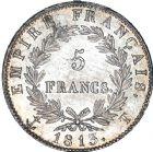 Photo numismatique  ARCHIVES VENTE 12 juin 2018 MODERNES FRANÇAISES NAPOLEON Ier, empereur (18 mai 1804- 6 avril 1814)  353- 5 francs, Nantes 1813.