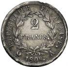 Photo numismatique  ARCHIVES VENTE 12 juin 2018 MODERNES FRANÇAISES NAPOLEON Ier, empereur (18 mai 1804- 6 avril 1814)  354- Lot de 7 monnaies.