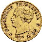 Photo numismatique  ARCHIVES VENTE 12 juin 2018 MODERNES FRANÇAISES NAPOLEON Ier, roi d'Italie (1805-1814)  356- 40 lire or, Milan 1810.