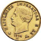 Photo numismatique  ARCHIVES VENTE 12 juin 2018 MODERNES FRANÇAISES NAPOLEON Ier, roi d'Italie (1805-1814)  359- 40 lire or, Milan 1814.