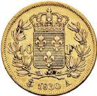 Photo numismatique  ARCHIVES VENTE 12 juin 2018 MODERNES FRANÇAISES CHARLES X (16 septembre 1824-2 août 1830)  365- 40francs or, Paris 1830.