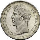 Photo numismatique  ARCHIVES VENTE 12 juin 2018 MODERNES FRANÇAISES CHARLES X (16 septembre 1824-2 août 1830)  368- 5 francs, Lille 1827, Strasbourg 1828.
