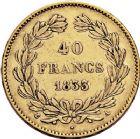 Photo numismatique  ARCHIVES VENTE 12 juin 2018 MODERNES FRANÇAISES LOUIS-PHILIPPE Ier (9 août 1830-24 février 1848)  373- 40 francs or, Paris 1833.