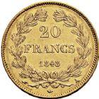 Photo numismatique  ARCHIVES VENTE 12 juin 2018 MODERNES FRANÇAISES LOUIS-PHILIPPE Ier (9 août 1830-24 février 1848)  376- 20 francs or, Paris 1848.