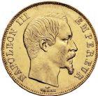 Photo numismatique  ARCHIVES VENTE 12 juin 2018 MODERNES FRANÇAISES NAPOLEON III, empereur (2 décembre 1852-1er septembre 1870)  385- 50 francs or, Paris 1857.
