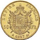 Photo numismatique  ARCHIVES VENTE 12 juin 2018 MODERNES FRANÇAISES NAPOLEON III, empereur (2 décembre 1852-1er septembre 1870)  386- 50 francs or, Paris 1857.