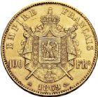 Photo numismatique  ARCHIVES VENTE 12 juin 2018 MODERNES FRANÇAISES NAPOLEON III, empereur (2 décembre 1852-1er septembre 1870)  388- 100 francs or, Paris 1869.