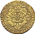 Photo numismatique  ARCHIVES VENTE 12 juin 2018 MONNAIES DU MONDE ANGLETERRE EDOUARD III (1327-1377) 406- Noble d'or, après le traité de Brétigny, (1369-1377), Londres.