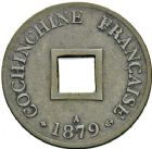 Photo numismatique  ARCHIVES VENTE 12 juin 2018 MONNAIES DU MONDE INDOCHINE et COCHINCHINE  417- Lot de 3 sapèques, 1879, 1893, 1900.